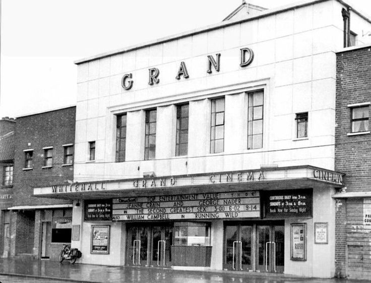 Whitehall Grand Cinema Collins Ave early 1950s Opened in 1954 with a 1000 seats