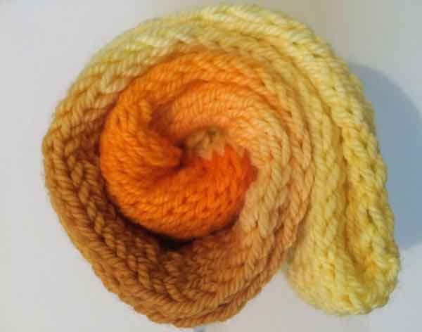 DK Bliss Hand-dyed Colour Transitions 100g 8 ply Wool Yarn Nasturtium Yellow Orange by HeatherMaid on Etsy