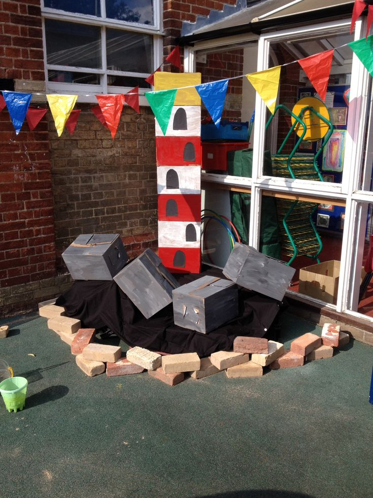 Lighthouse (based on the book 'lighthouse keeper's lunch') role play area.