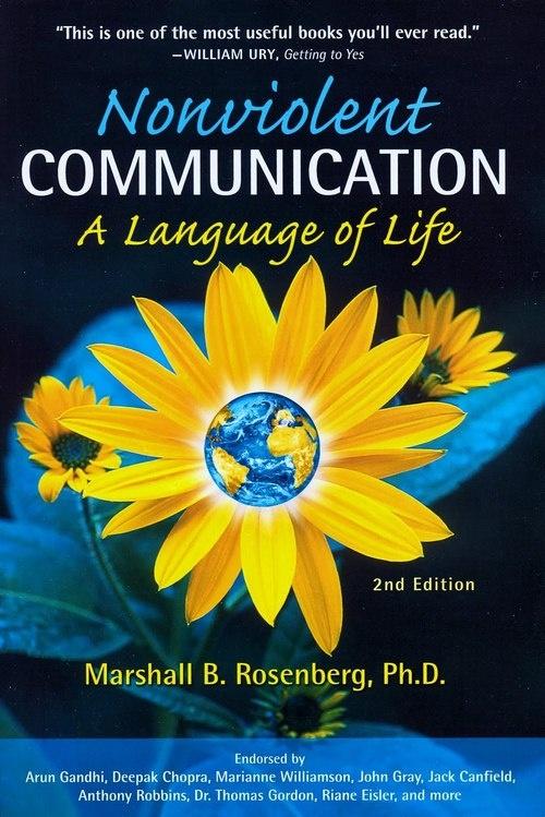 Book on Non Violent Communication by Marshall Rosenberg.