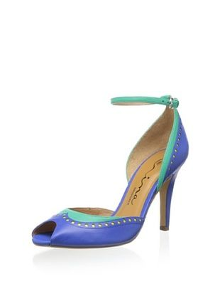 59% OFF Nina Women's Sylvia Peep-Toe Pump (Cobalt Multi)