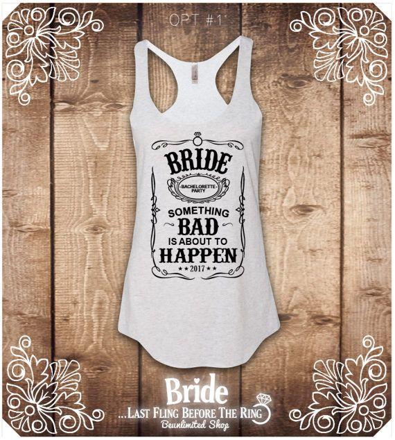 Bride Shirts Bachelorette party shirts Bride tank top