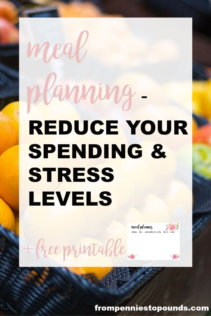 Meal Planning, click through for more: http://www.frompenniestopounds.com/meal-planning-reduce-grocery-spending-stress-levels/ Budgeting Tips | Save | Finance | Credit Card Debt | Financial Resources | Save more | Budget Help | Mum life | Frugal living | Debt Free Living | Money Management | Saving Tips
