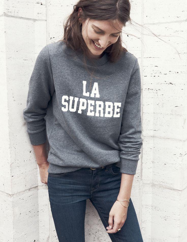 Madewell et Sézane: La Superbe sweatshirt coming Tuesday, 10/21 to Madewell.com #madewellxsezane