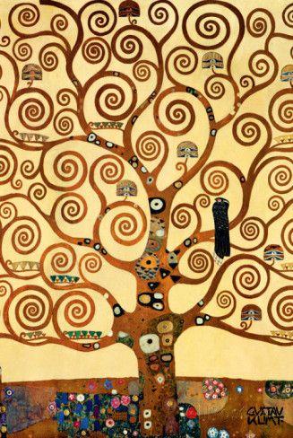 [K] L'arbre de vie, 1909, fresque du Palais Stoclet, Klimt Gustav
