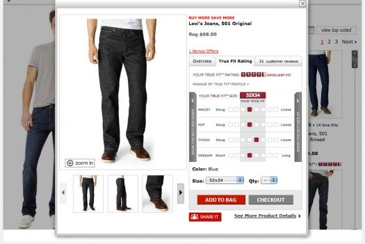 Macy's Algorithm Helps Shoppers Find The Brand That Will Fit Them Best    Macy's is currently testing True Fit technology, a fit personalization software used for remote sizing and recommendations.
