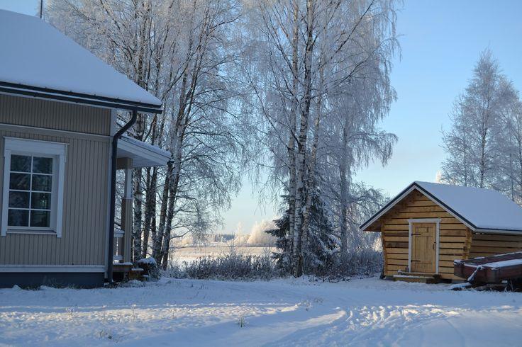 Villa Emmassa: Talvisempi sisustus olohuoneessa