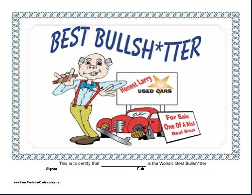 free printable funny awards