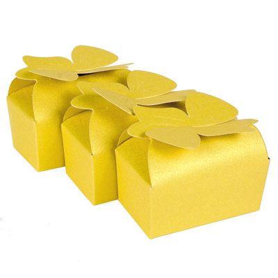 CiS195 - 25pcs lucido oro colore carta regalo scatole bomboniera