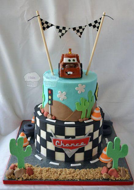 """""""Cars"""" Cake - by susieqhomemaker @ CakesDecor.com - cake decorating website"""