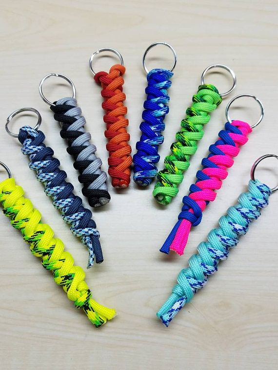 Check out this item in my Etsy shop https://www.etsy.com/listing/490285268/paracord-keychain-cyclone-wrap-paracord