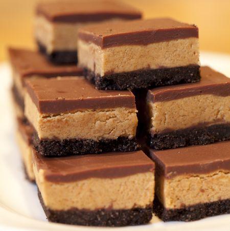 chocolate peanut butter bars.