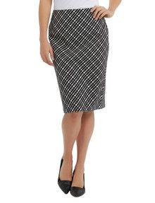 Oliver Black Cross Line Pencil Skirt product photo