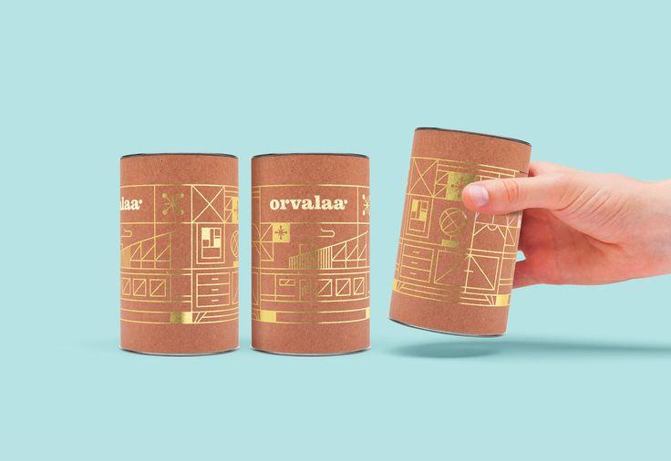 can design lightbulb packaging branding gold foil orvalaa huisstijl graphic design agency antwerpen zweeds ontwerp