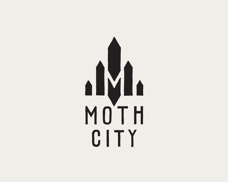 Logo Design / MOTH CITY  ----- Black and White logo design for digital comic Moth City. Please Repin, or click this link to see more images from this project > http://www.flyingwhities.com/327652/4294714/-illustration/digital-graphic-novel-moth-city