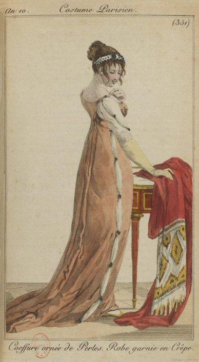 http://www.1789-1815.com/mode_1801.htm  Journal des Dames et des Modes, n° 18, 30 frimaire an 10 (21 décembre 1801).