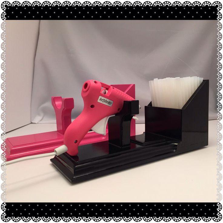 glue gun, glue gun stand, Small Glue Gun holder, Hot Glue Gun Stand & Holder, Scrapbooking Storage , Craft storage, Craft room tool, by BellaDecoCreations on Etsy https://www.etsy.com/listing/230057998/glue-gun-glue-gun-stand-small-glue-gun