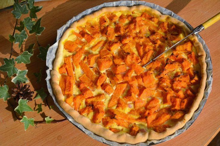 """Quiche Potiron lardon - une quiche """"vide frigo"""" d'automne délicieuse"""