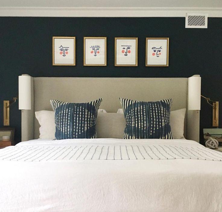 bedroom, orlando, спальня, декор интрьера, галерея на стене, идеи для интерьера