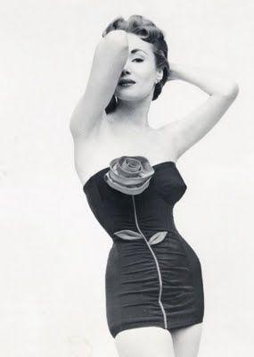 rose-detail swimsuit