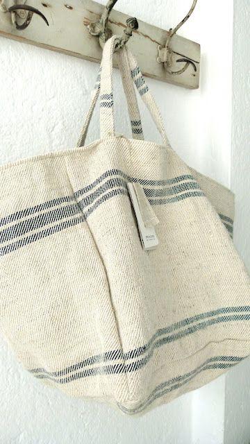 Grain Sack Bag . . .kan natuurlijk ook van oude theedoeken gemaakt worden :-)