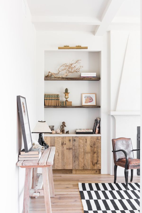 Leigh Herzig's refined rustic hollywood home   via coco+kelley rustic wood panels for cabinets here adn in part of kitchen