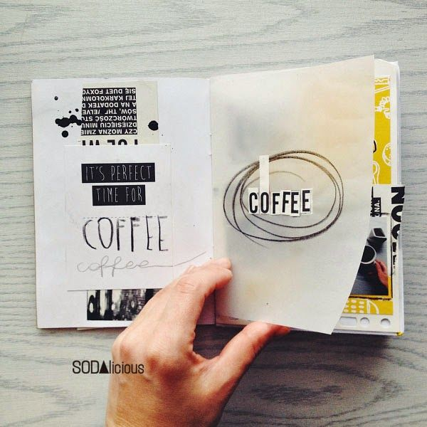 visual journaling - Coffee