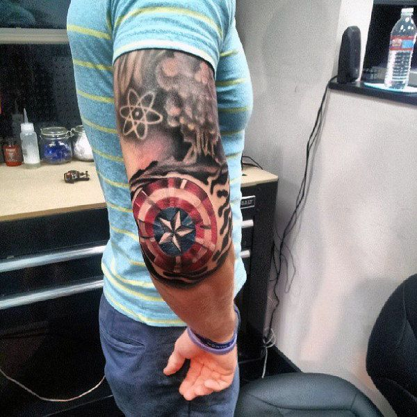 70 Captain America Tattoo Designs Fur Manner Superhelden Tinte Ideen Mann Stil Tattoo Captain America Tattoo Marvel Tattoos Tattoo Designs