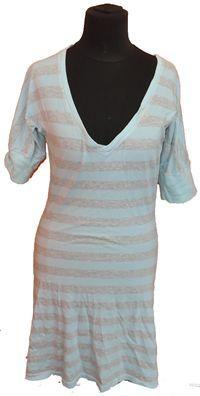 Dámské šedo-světlemodré pruhované šaty zn. Tommy Hilfiger vel. S