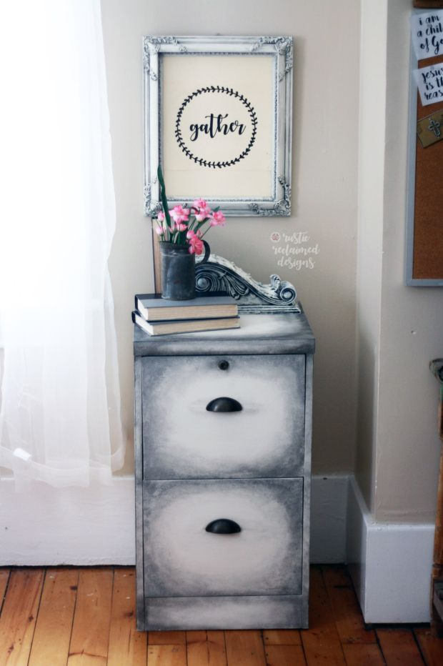 Old World Finish Filing Cabinet – Rustic Reclaimed Designs