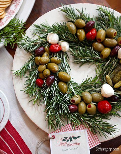 украшение стола рождественский венок