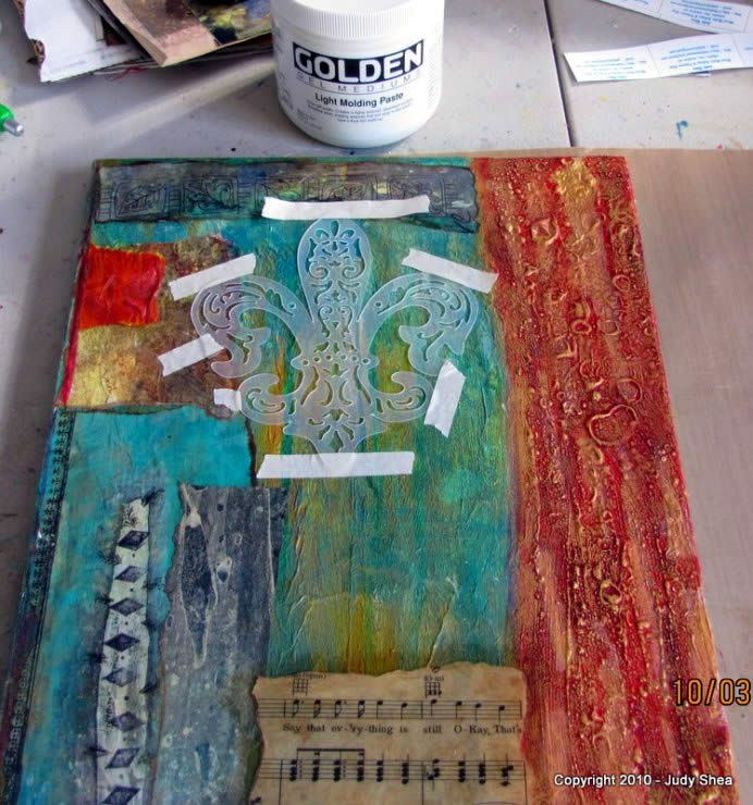 mixed media collage tutorial step by step