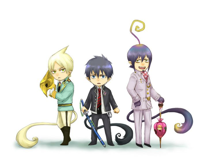 Картинки аниме синий экзорцист люцифер