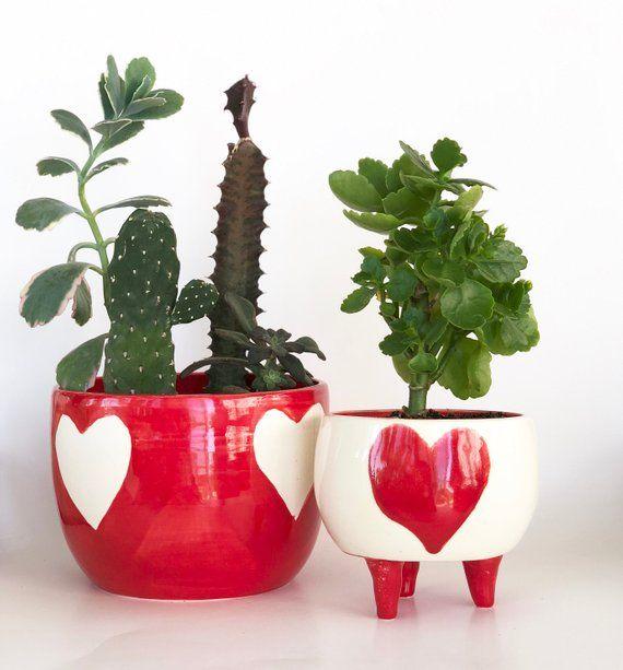 Heart Planter Pot Handmade