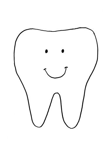 Tooth Template for Dental Health Month