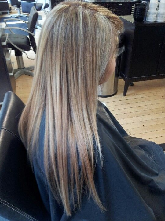 Buttery blonde highlights on Asian hair With images