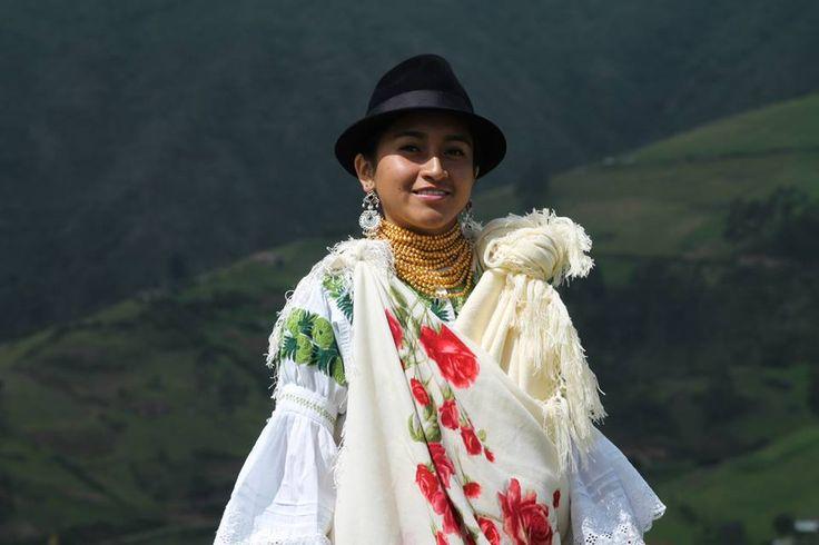 Mujer hermosa de Zuleta, Imbabura, Ecuador.