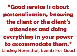 Contributor to the National Conference Center's summer 2012 white paper on service in the events industry