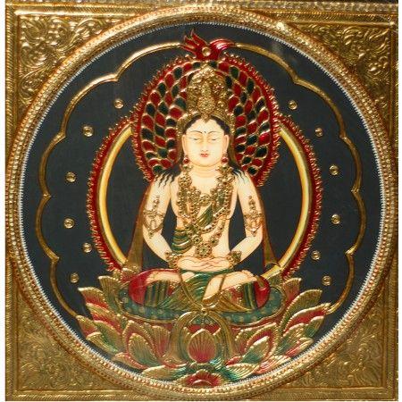 Buddha Tanjore Painting #tanjorepaintingsonline #buddhapainting #buddhatanjorepainting