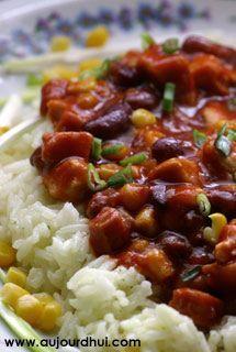 Riz à la mexicaine (riz, maïs, haricot rouge) - Recette plat - Aujourdhui.com