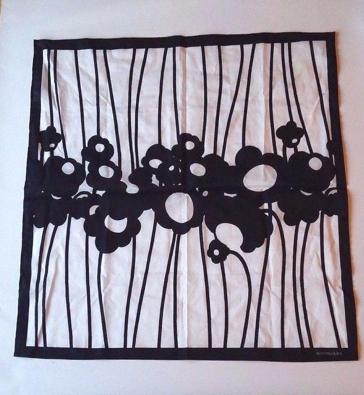 Marimekko Finland Scarf Black and White #Marimekko