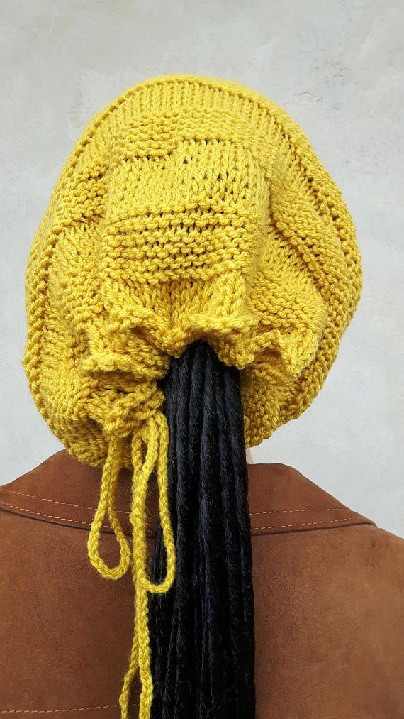 Mustard dreadlock hat Mustard Hat Rasta Hat Dreadlock
