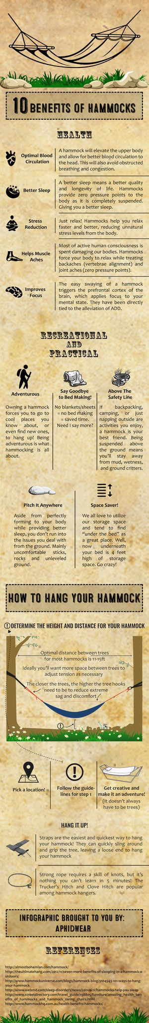 Hammock Benefit Infographic – from @AphidWear
