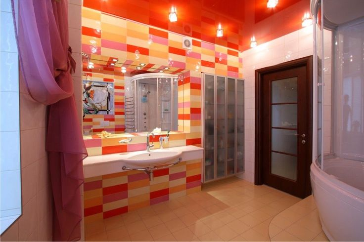 Stretch ceilings in the bathroom the ideal choice photo 19