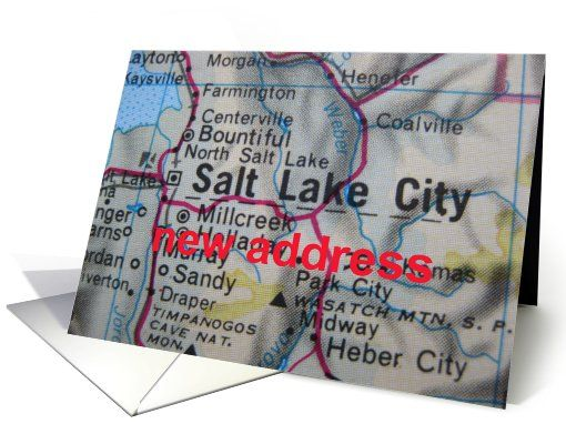 Change of address card - Salt Lake City,Utah card