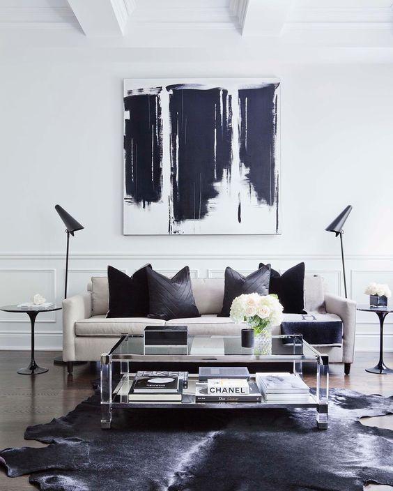 25+ best Black white rug ideas on Pinterest Apartment bedroom - black and white living rooms