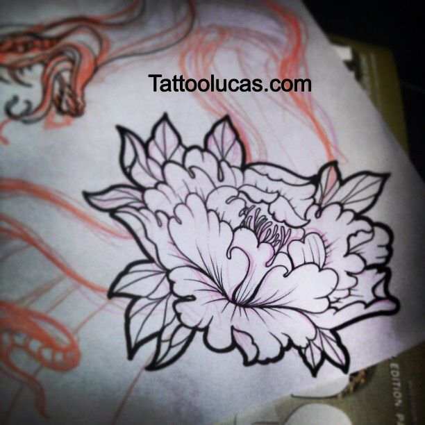 Japanese peony flower tattoo design | Tattoos and artwork ...