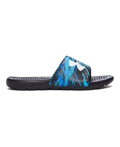 amazing Under Armour Kids' Boys' Strike Blend Slides Sandal