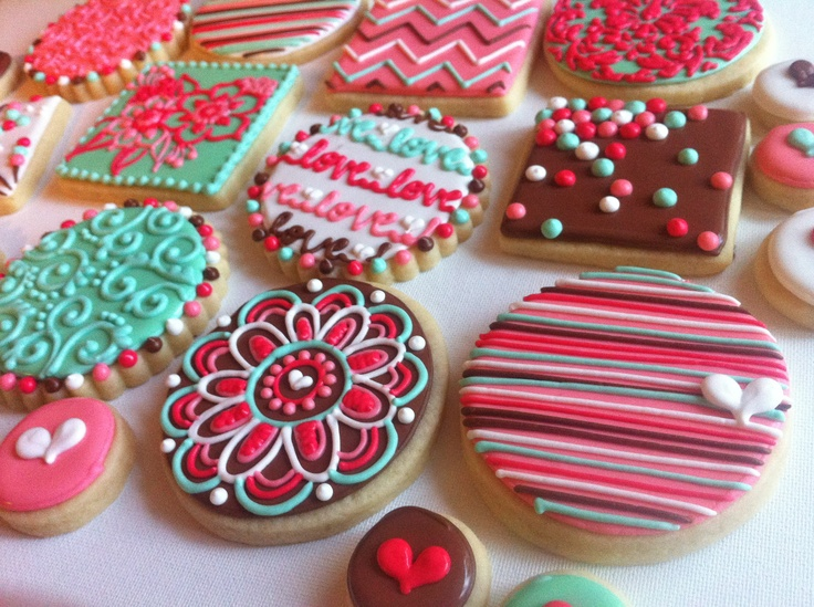Girly colorful cookies