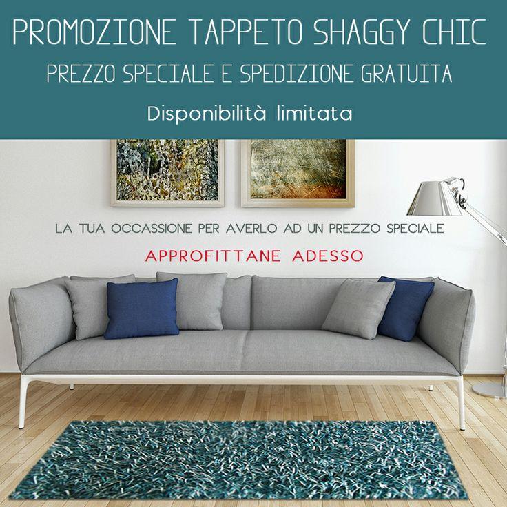 #PROMOZIONE prezzo speciale sul #tappeto shaggy chic per tutta la settimana dal 14 al 20 Aprile 2014 e fino a disponibilità. Approfittane adesso perché le spedizioni sono #gratis. http://www.gandebia.it/categoria-prodotto/prodotti-in-promozione/promozione-settimanale/